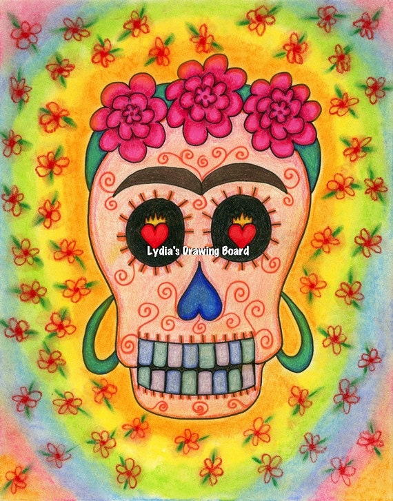 Milagros, Day of the Dead Art, Day of the Dead, Frida Kahlo Art, Dia de Los Muertos Art, Dia de Los Muertos, Skull, Sugar Skull, Skull Decor