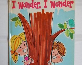 Vintage Book, I Wonder, I Wonder