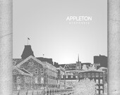 Appleton Wisconsin Skyline Poster / Home, Office or Nursery Wall Art Poster / Any City or Landmark