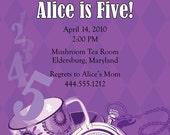 Alice in Wonderland Birthday Party Invitation, DIY Printing
