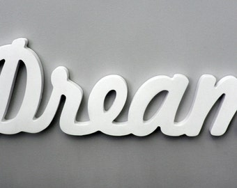 Wooden Inspirational Wall Word - Dream Wall Decor