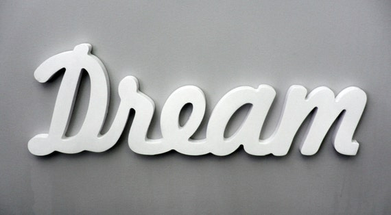 Wooden Inspirational Wall Word Dream Wall Decor