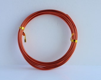 14 Gauge (1.5mm) Red Orange Tone Aluminum Wire