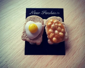 Cooked Breakfast Stud Earrings