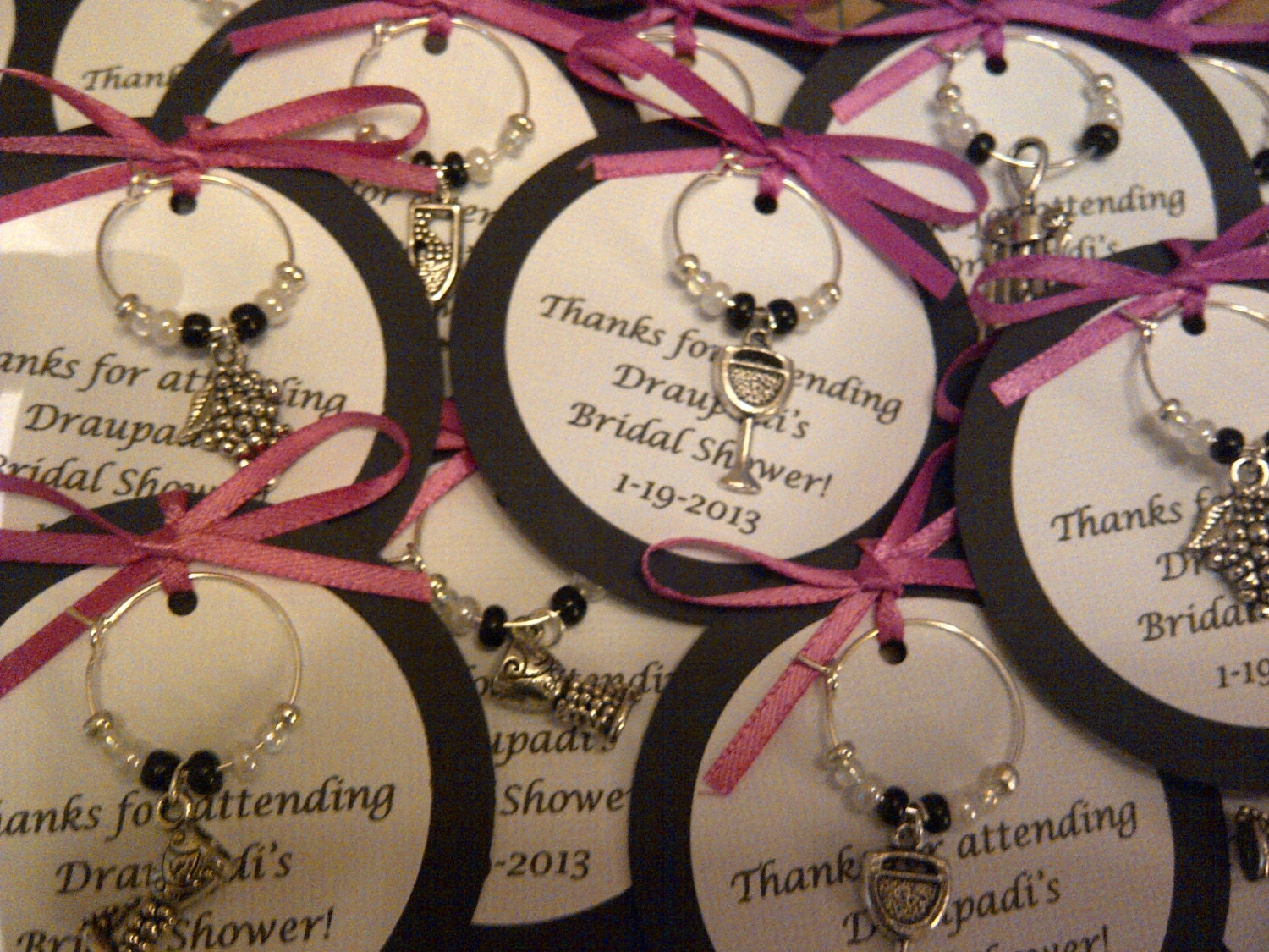 Wedding Gifts Wine: 5-45 Custom Wine Themed Wine Charm Favors Weddings Bridal