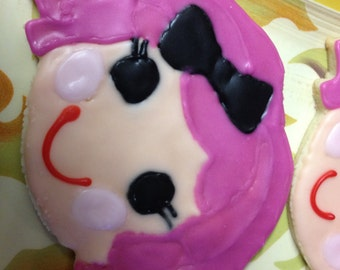 LaLaLoopsy decorated sugar cookies