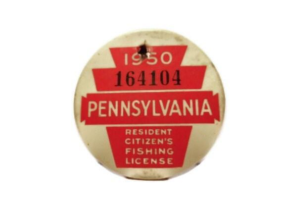 Items similar to 1950 pennsylvania resident citizens for Illinois non resident fishing license