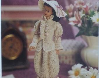 Victorian Ensemble doll pattern to crochet - Vanna's - crochet doll dress, 791