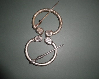 Rare Pair of Silver North African Tribal Fibula