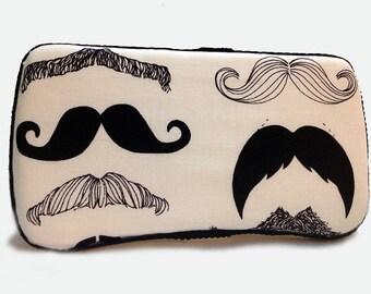 Custom Boutique Style Travel Wipe Case - Mustache