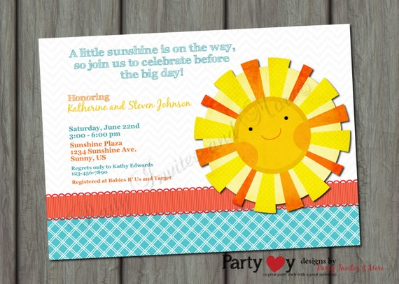 you are my sunshine baby shower invitation printable digital file