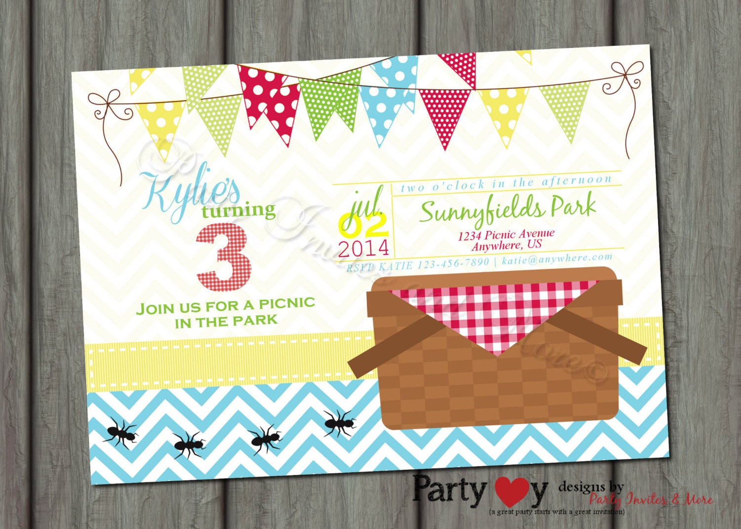 Teddy Bear Picnic Invitations with nice invitation layout