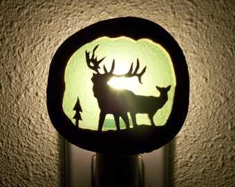 Elk Herd nightlight