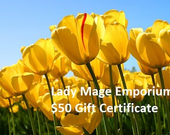 50 Gift Certificate Emailed or Mailed