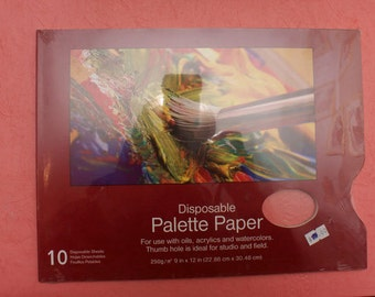 10 Disposable Paper Palette