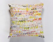 A Cushion cover, colorful dots printed on Linen with an original design,Yellow, Red, Black, Grey, Lime - DiklaLevskyDesign
