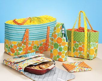 McCalls 6338 Carriers, Hot Pad, And Picnic Totes Sewing Pattern