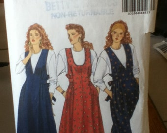 "Butterick Fast & Easy Maternity Jumper, Jumpsuit and Top Pattern 5000 Size: 14-20, Bust  36""-42"" Waist 28""-34"" Hip 38""-44"""