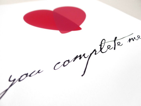 love art print you complete me love poster love quotes