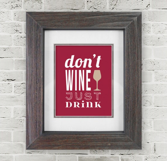 Wine wall art wine prints wine lovers dining room wine for Wine and dine wall art