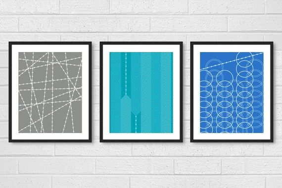 Dining room art living room prints set of 3 modern living for Dining room posters
