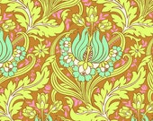 """Amy Butler Fabric Soul Blossoms 'Temple Tulips"""" in Cinnamon 1 Yard"""