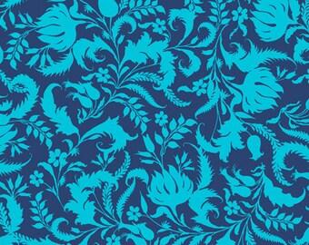 Amy Butler Fabric Lark 'Ivy Bloom' in Cobalt 1 Yard