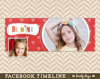 Valentines Day Facebook Timeline Design Template for Photographers INSTANT DOWNLOAD