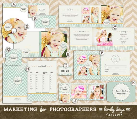 Photography marketing templates set for by lovelydayscreative for Photography marketing templates