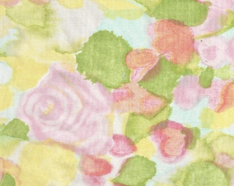 ONE Sweet Vintage Sheet Fat Quarter, Vintage Floral Fabric, Vintage Fabric, Reclaimed Fabric, Sewing Supplies, Quilt Supplies, RPR14