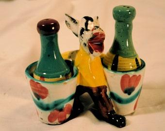Vintage Funky, Fun Italian Donkey Salt & Pepper Set