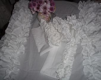 ruffled napkins-set of 4