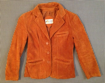 1970's, tan suede, Western style blazer/jacket