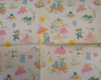 Vintage Hallmark Wrapping Paper Baby