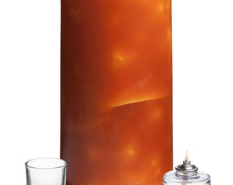 """Luminary Candle in Amber, 6"""" x 12"""""""