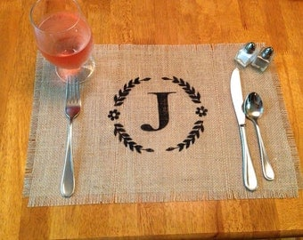 "Burlap Placemats 12"" x 18"" - set of 8 Home decor Wedding decor Holiday decor Wedding gift Housewarming gift"
