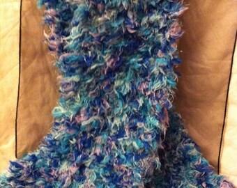 Fluffy lady's scarf