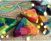 Upcycled/Recycled Triangle Crayons