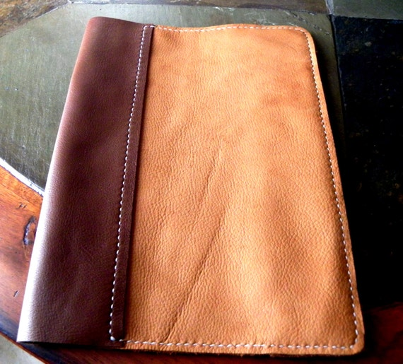 leather composition book cover deerskin rustic frontier