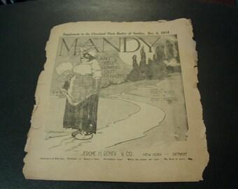 sheet music 1913