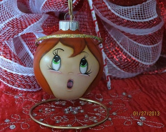 Angel Ornament with Red Hair.