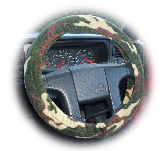 Camouflage steering wheel cover car Camo green by PoppysCrafts