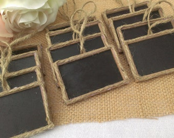 rustic wedding chalkboard signs, framed chalkboard table numbers,  country wedding decor set of 12
