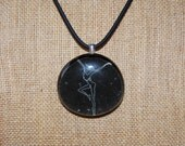 DMB Black and White Pendant with Choice of Necklace