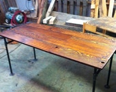 Barn wood Fir and Cast Iron Pipe Desk