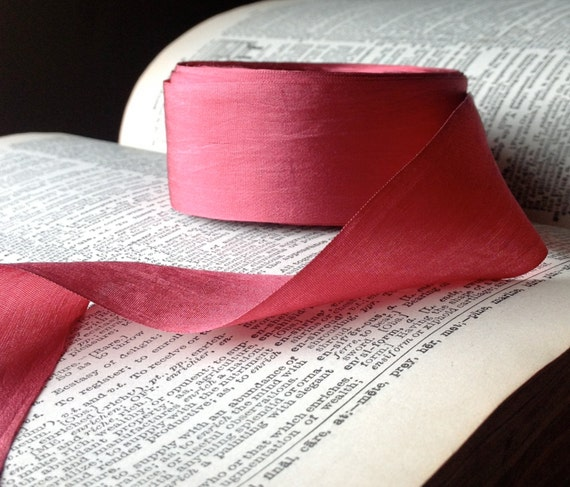 Pink Coral Pomegranate Silk Ribbon From ShyMyrtle On Etsy