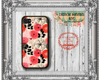 Poppy Floral iPhone Case, Floral iPhone 6 Case, Fall iPhone Case, iPhone 4, 4s, iPhone 5, 5s, 5c, iPhone 6, 6s, 6 Plus, SE, iPhone 7, 7 Plus