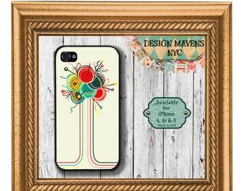 Knitting Yarn iPhone Case, Knitter iPhone Case, Gift for Her Phone Case, iPhone 5, 5s, 5c, 4, 4s, iPhone 6, 6s, 6 Plus, SE, iPhone 7, 7 Plus