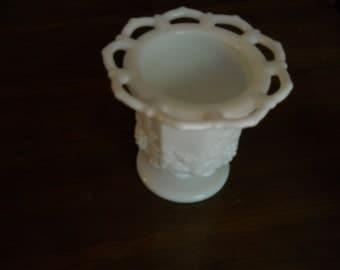 Milk Glass spooner 1970