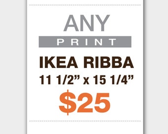 any prints 11 12 x 15 14 ikea ribba frame size
